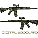 GunSkins AR-15/M4 Rifle Skin Camouflage Kit DIY Vinyl Wrap with Pre-cut Pieces