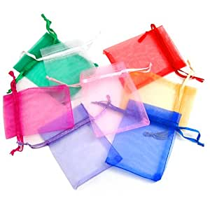 chinkyboo Caltrad 100 Organza Wedding Gift Bags Jewellery Pouches Mixed Color