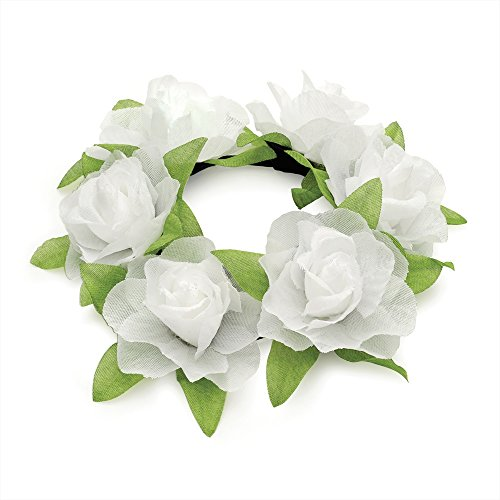 rose-flower-bun-ring-floral-hair-band-scrunchie-elastic-white