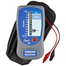 Supco M500 Insulation Tester/Electronic Megohmmeter with Soft Carrying Case, 0 to 1000 megohms