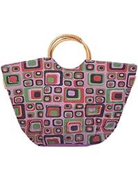 MOKSH Jute Multi-Colour Reusable Shopper Bag (JB-040)