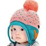 Happy Cherry - Gorra Gorro Completo Beb�s ni�os ni�as Sombrero Caliente Infantil de Invierno para recien nacidos protector de orejas - rosa 0-3 a�os