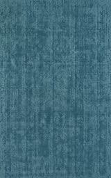 Robins Egg Blue Area Rug, Solid Design 8-Foot X 10-Foot Handmade Wool Carpet