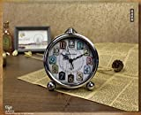 ZQY retro an alarm clock electronics watches fashion creative students gifts alarm clock iron home decorating crafts