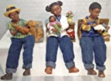 J.D. Yeatts and Sons - African American Dangle Leg Kids, Set of 3, 75008 A, B, and C
