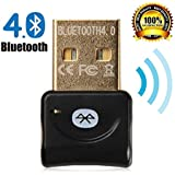 Inamax B520 Bluetooth 4.0 USB Dongle Adapter For PC With Windows 10 / 8.1 / 8 / 7 / XP,Vista, - Plug And Play...