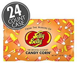Jelly Belly Candy Corn Jellies Beans, 1.45 oz Fun Size Bags (Case Pack of 24)