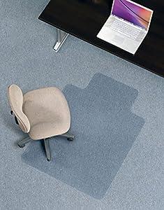 ES Robbins Economy Chairmat Low Pile Wide Lip Carpet Chair M