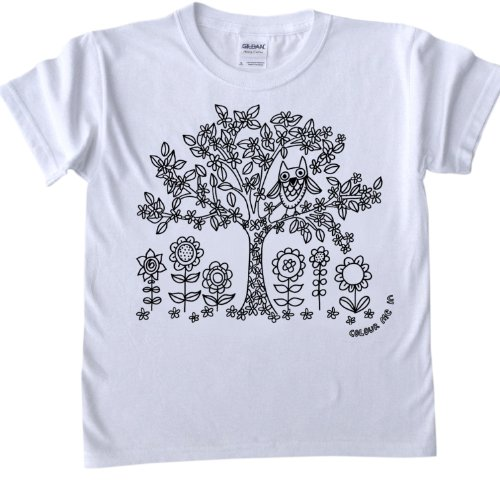 Tree Design T-Shirt for colouring in.