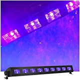 UV LED Black Light Bar - Super Bright High Output Ultraviolet LEDs - 9x3W - 27 Watts of Black Light