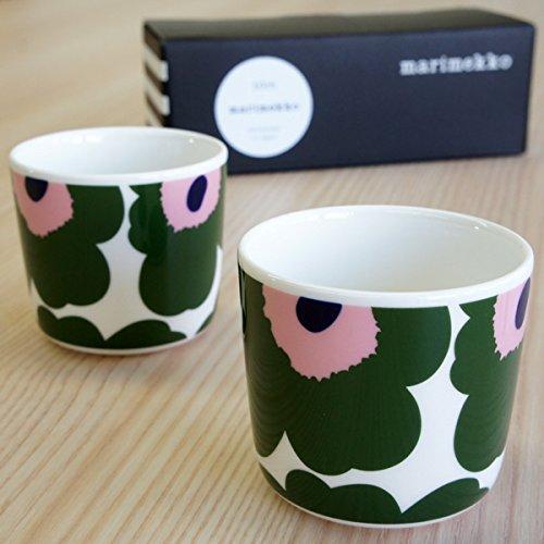 マリメッコ / marimekko コーヒーカップ2個セット(ラテマグ) UNIKKO/10周年記念DARKGREEN 北欧