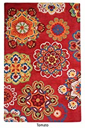 The Rug Republic Medallion Loop Tufted Wool Rug