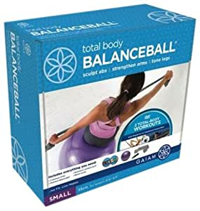 Gaiam Small-Total Body Balanceball Kit (55Cm/Purple)