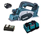 MAKITA 18V LXT BKP180 BKP180Z BKP180RFE PLANER, BL1830 BATTERY, DC18RC CHARGER AND LXT400 BAG - PF TRADE