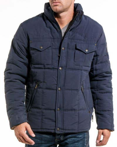 Lenny and loyd - Navy blue hooded down jacket fashion man - Color: Blue Size: M