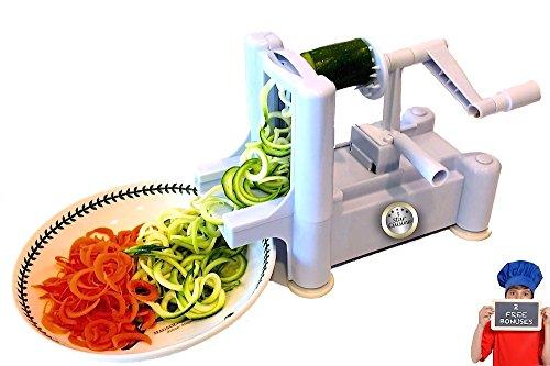 5 Star Cuisine Spiral Slicer - All in One Vegetable Chopper, Spiralizer, Vegetable Spiral Slicer
