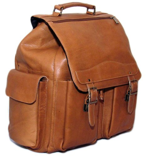 Cape Cod Leather Mountain Premium Leather Backpack (Tan)