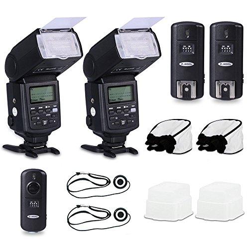 Neewer® Professional Speedlite E-Ttl *High-Speed Sync* Flash Kit For Canon Rebel T4I T3I T3 Xs T2I T1I Xsi Xti, Eos 650D 600D 1100D 1000D 550D 500D 450D 400D 5D Mark Iii 5D Mark Ii 7D 60D 50D 40D 30D Dslr Cameras, Includes: 2 Neewer Pro E-Ttl Auto-Focus F