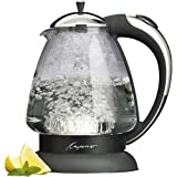 Capresso 259 H2O Plus Glass Water Kettle, Polished Chrome