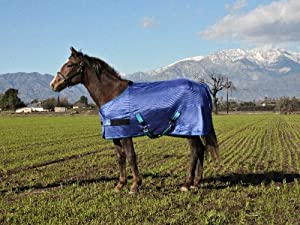 Kensington Adjustable Weanling Polymax Fly Sheet, Blue Ice, 50-58-Inch