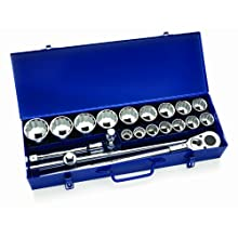 JH Williams 33901 21-Piece 3/4-Inch Drive Socket Lok Tool Set