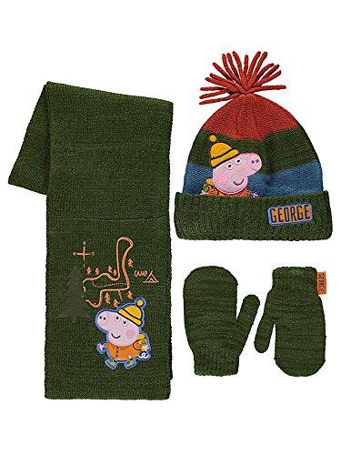 e5319efa9cf3b Boys Peppa Pig George Pig Hat Scarf   Mittens Set Age s 1-3 4-6 Years -  Babaloo