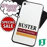 iPhone4/4S ケース タバコ パロディ ハードカバー BUSTER