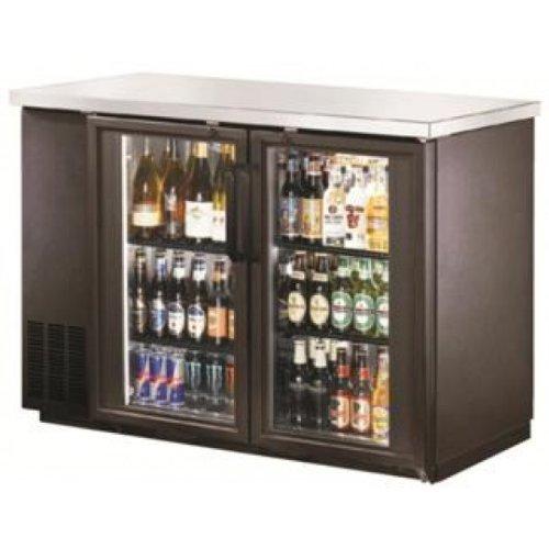 "Metal Frio 48"" Back Bar Glass Door Bottle Cooler"