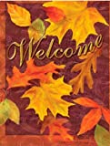 Welcome, Autumn Leaves Colorful Garden Flag Outdoor Decor 13 X 18.5 , Thanksgiving