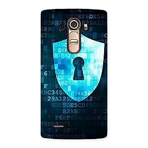 Delighted Digital Secure Print Blue Back Case Cover for LG G4