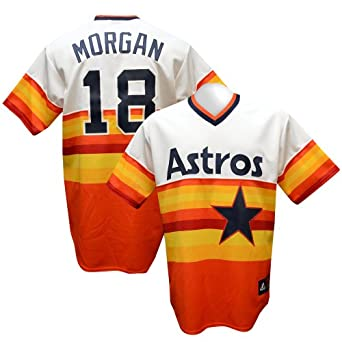 Houston Astros Joe Morgan Cooperstown Replica Rainbow Jersey by Majestic