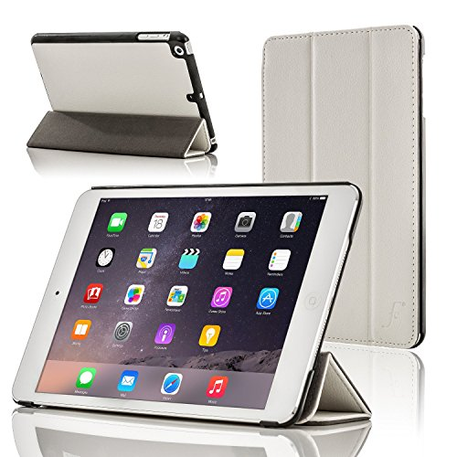 ForeFront Cases® Nuova Apple iPad Air custodia / supporto a 3 Piegare in pelle con funzione magnetica per l'auto sleep e wake Per Apple iPad Air 2013 + WiFi 16Gb, 32Gb, 64Gb, 128Gb - BLANCO