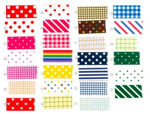 Masking Sticker Set, 27-Sheet,  3.9 by 2.5 inch