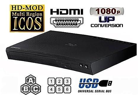 SAMSUNG Lecteur CODEFREE BD-J5100 MultiZone Region Code Free DVD 012345678 PAL/NTSC Blu Ray Zone A/B/C. Divx Xvid AVI MKV. 100~240V 50/60Hz (Free HDMi Cable)