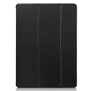 KHOMO iPad Pro Case 12.9 Inch - DUAL Carbon Fiber Super Slim Cover with Rubberized back and Smart Feature (Built-in magnet for sleep / wake feature) For Apple iPad Pro 12.9'' Tablet ... by KHOMO