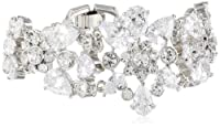 "Carolee ""Uptown Girl"" Flower Drama Bracelet, 7.5"" by Carolee"