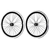 Fixie Freewheel Track Wheel Wheelset Deep +Tires White or Black