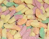 Sour Fizzy Glow Worms (Tutti Fruitti) 500 gram bag (1/2 kilo)
