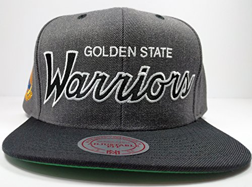 Mitchell & Ness Golden State Warriors Charcoal Vintage Draft Special Script Hat Cap NBA (Nba Jersey Alternative compare prices)