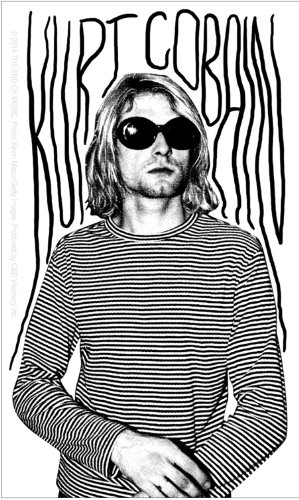 Licenses Products Kurt Cobain Photo Sticker