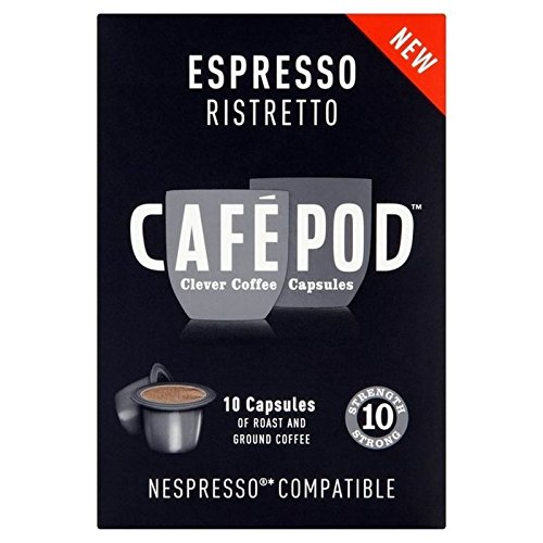 Find CafePod Ristretto Nespresso Compatible Coffee Capsules 10 per pack - Pack of 6 from CafePod