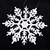 "30 White Snowflakes with Pearlized Glitter. Each Snowflake Measures 4""!"