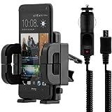 Supporto bocchette aria per HTC One M7 + caricabatterie - Il cellulare entra perfettamente nel supporto senza...