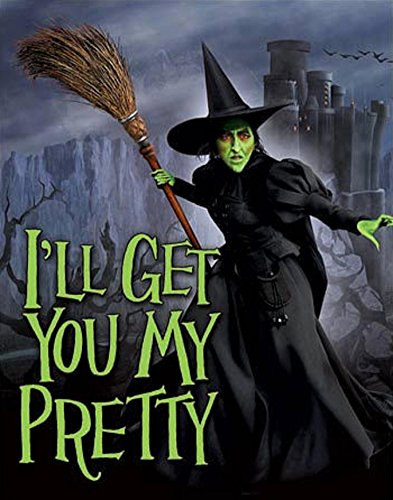 Wizard of Oz - Wicked Witch I'll Get You My Pretty Movie Tin Sign 13 x 16in