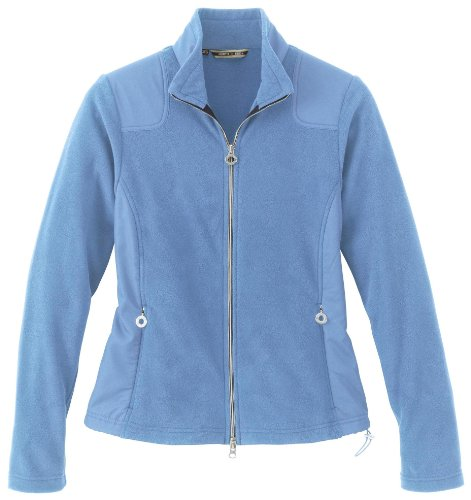 Ladies' Recycled Fleece Full Zip Jacket, Lake Blue, 3X