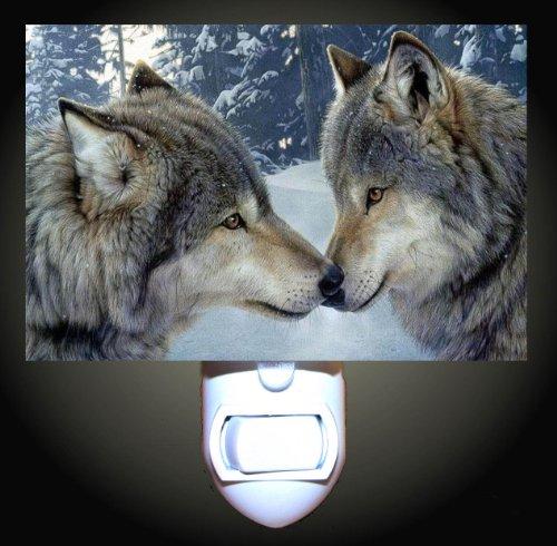 Snow Wolf Kiss Decorative Nightlight