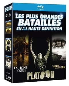 Les Plus grandes batailles en haute définition : La Ligne Rouge + Platoon + Le jour le plus long [3 Blu-ray]