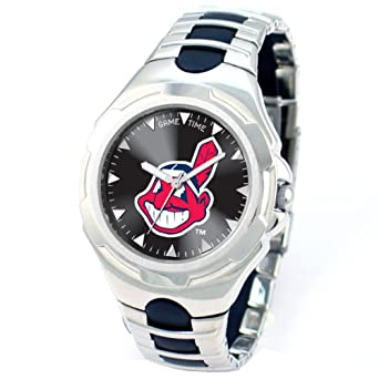 MLB Mens MLB-VIC-CLE Victory Series Cleveland Indians Watch by Game Time