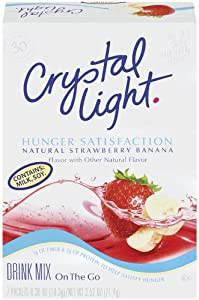 Crystal Light On The Go Hunger Satisfaction, Strawberry Banana, 7-Count Boxes (Pack of 6)
