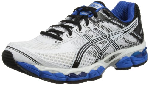 Asics Mens Gel-Cumulus 15 M White/Black/Royal Running Shoes T3C0N 0199 13 UK, 49 EU